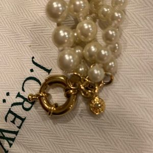J Crew 5 strand Pearl twisted Hammock Necklace